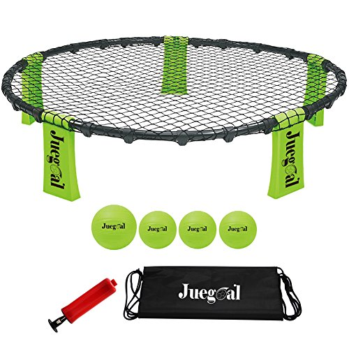 (Juegoal Volleyball Spike Game Set Bounce Game Outdoor Game for Beach, Yard, Lawn,)