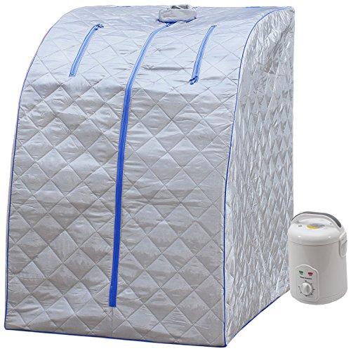 Durherm Portable Personal Folding Home Steam Sauna (Blue Outline)