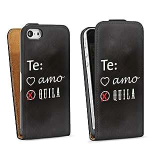 Diseño para Apple iPhone 5 DesignTasche Downflip black - Tequila