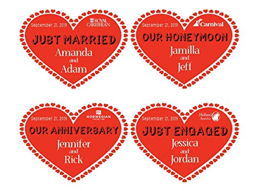 Cruise Line Magnet | Heart Stateroom Door Magnet | Just Engaged Cruise Magnet | Celebration | Just Married | Our Anniversary | Our Honeymoon | Holland America | Carnival | Royal Caribbean and More]()