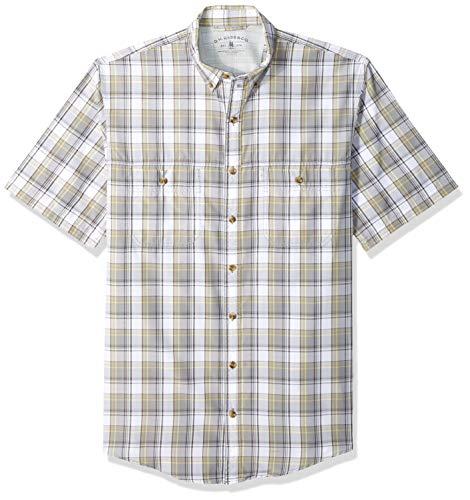 (G.H. Bass & Co. Men's Big and Tall Explorer Short Sleeve Button Down Shirt, Shark Skin-1, 3X-Large)