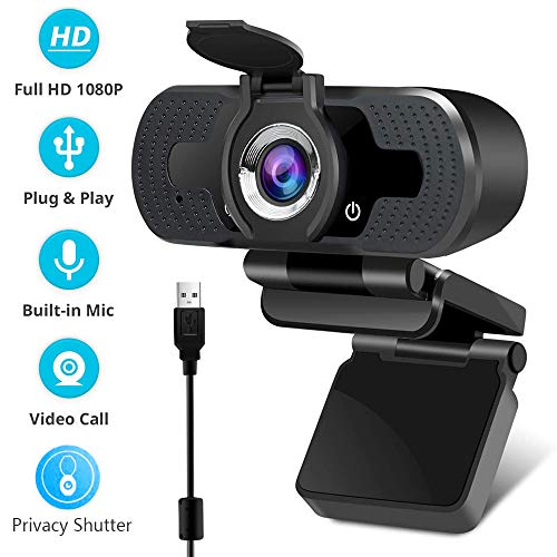 🥇 EasyULT Webcam 1080P Full HD