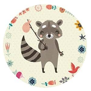 alfombrilla de ratón lindo mapache - ronda - 20cm