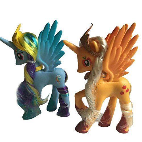 2pcs/set Colorful Cute Princess Little Horse toys Action Figures Great Gift for Boys and Girls (My Little Pony Equestria Girl Costume)