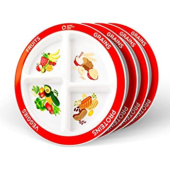 Amazon.com | Choose MyPlate 10 inch Plate for Adults & Teens ...
