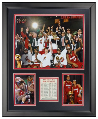 Legends Never Die 2006 Miami Heat Champions Framed Photo Collage, 16