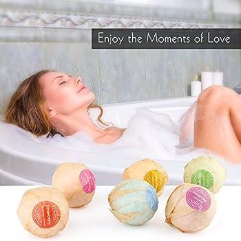 Ms.Dear Bath Bombs with Moisture Resistant Bag Wrapped,12pcs Set, Bath Bubbles, Basket, Bath Beads, Bath Salt,Bath Products