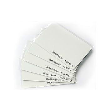 YIQing 35 x Tarjeta RFID 125 KHz EM4100 TK4100 0.8 mm Chip ...