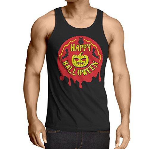Vest Happy Halloween! - Party Clothes - Pumpkins, Owls, Bats (Small Black Multi -