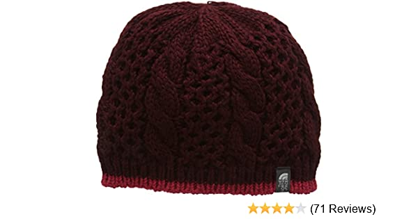 0bef43e0425d62 Amazon.com: The North Face Women's One Size Cable Minna Beanie, Deep Garnet  Red, One Size: Clothing