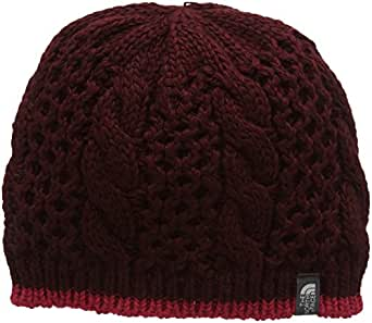 The North Face Women's Cable Minna Beanie, Deep Garnet Red, One Size