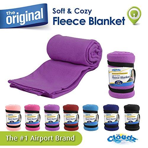 Cloudz Fleece Blanket - Deep Purple
