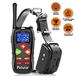 Dog Training Collar 2018 Upgraded Ip67 Waterproof 1800 Ft Remote Range 2 Weeks Standby Time Electric Leakage Protection Shock Collar For Small Medium Large Dogs 6.6lbs-120lbs