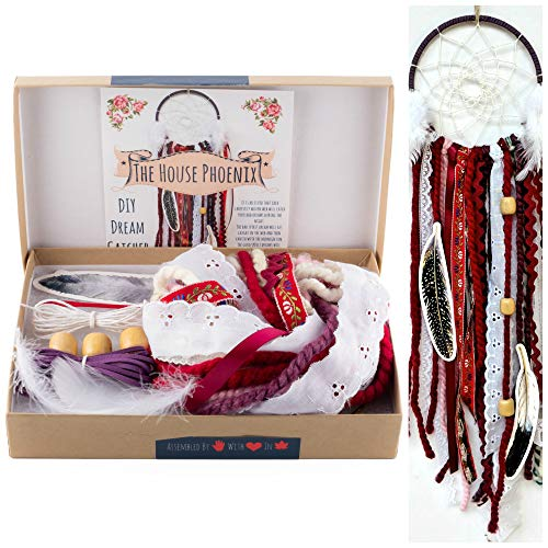 DIY Dream Catcher Kit Red Make Your Own Craft Project Girls Christmas Gifts from The House Phoenix