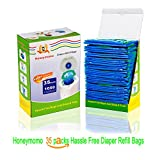#7: Baby Bathing Diaper Refill Bags With Toss and Hassle Free Blue Bags Green Ring,1050 Count Pail Snap Seal Disposal Diaper Bags (35)