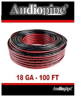 audiopipe 100u0027 feet 18 ga gauge red black 2 conductor speaker wire audio cable