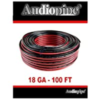 Audiopipe 100 Feet 18 GA Gauge Red Black 2 Conductor Speaker Wire Audio Cable