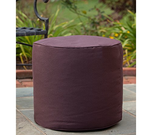 Gold Medal Bean Bags Outdoor/Indoor Sunbrella Weather Resistant Ottoman, Fife Plum (Fife Plum)