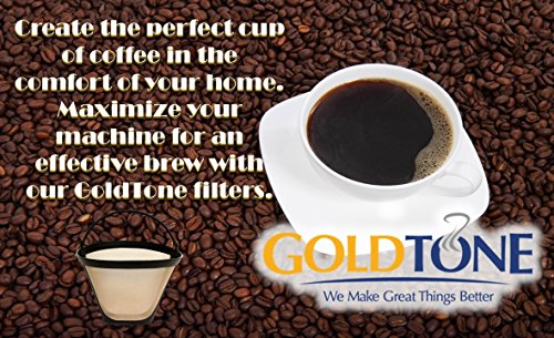 GoldTone Brand Reusable #4 Cone Coffee Filter fits Moccamaster Coffee Makers and Brewers. BPA-Free by GoldTone (Image #4)