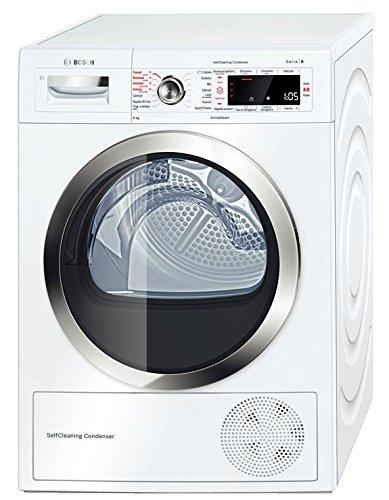 182f84cead5e6d Bosch Serie 8 WTW855R9IT Libera installazione Carica frontale 9kg A++  Bianco asciugatrice: Amazon.it: Grandi elettrodomestici