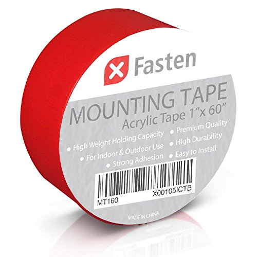 (XFasten Double Sided Tape Acrylic Mounting Tape Removable, 1-Inch x 60-Inch)