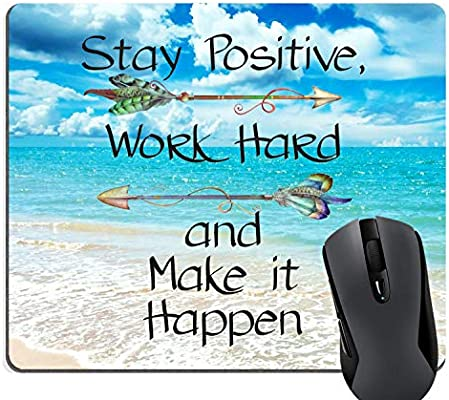 Amazon com : WXZDH Stay Positive Work Hard Make It Happen