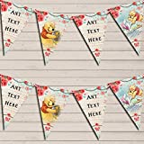 Winnie The Pooh Rustic Vintage Shabby Chic Floral Children's Birthday Bunting Garland Banner Decoration