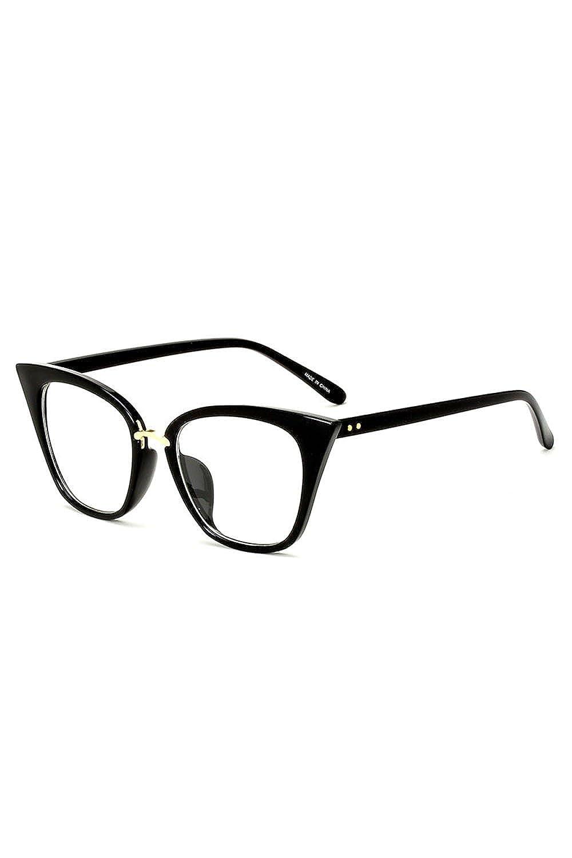 Bmeigo Occhiali da vista vintage Cat Eye Style per occhiali donna - Classic Black Frame UV400 Y1806008.01_BME