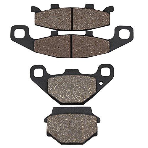 (Cyleto Front and Rear Brake Pads for KAWASAKI EX500 EX 500 Ninja 500 1994 1995 1996 1997 1998 1999 2000 2001 2002 2003 2004 2005 2006 2007 2008 2009)