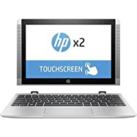 HP x2 Detachable 2 in 1 Flagship 10.1 inch HD Touchscreen Laptop PC| Intel Atom x5-Z8350 Quad-Core| 1.44 GHz| 2GB RAM| 32GB eMMC| Bluetooth| WIFI| Windows 10 (Silver)