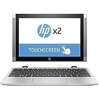 HP x2 Detachable 2 in 1 Flagship 10.1 inch HD Touchscreen Laptop PC| Intel Atom x5-Z8350 Quad-Core| 1.44 GHz| 2GB RAM| 32GB eMMC| Bluetooth| WIFI| Windows 10 (Silver)