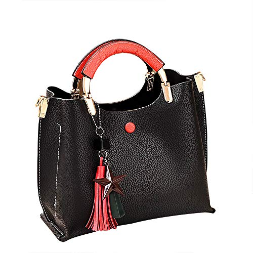 Londony Fashion Handbag Women Tassel Pendant Killer Bag Casual Wild Shoulder Slung Handbag ()