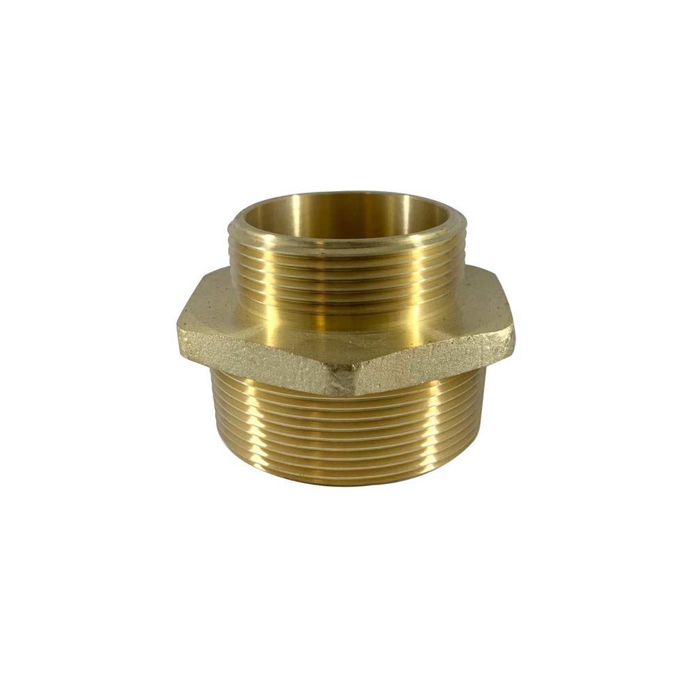 Hex Adapter Dixon Valve DMH2015F Equiv Brass 1.5 Male NH//NST 2 Male NPT