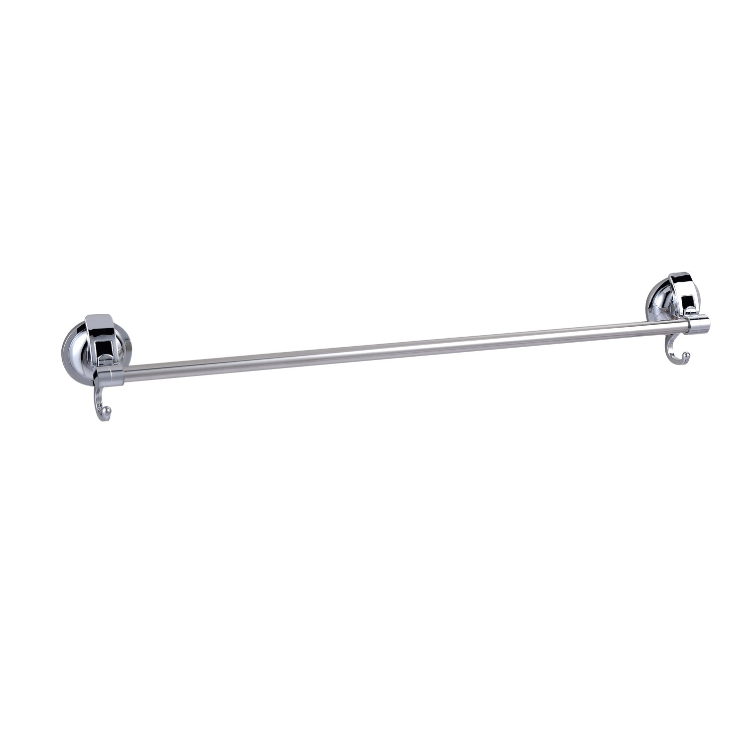 LORDEAR Suction Cup Towel Rack, 24 Inch long Bar Stainless Steel  (Chrome)