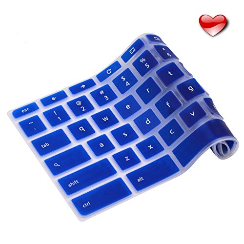 Casiii Premium Ultra Thin Acer Keyboard Cover Compatible Acer Chromebook R11 11 13 14 15.6 CB3-131 CB5 CP5 2016-2018 No About Liquid Spills or Dust | Navy Blue
