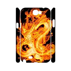 Dragon Customized 3D Case for Samsung Galaxy Note 2 N7100, 3D New Printed Dragon Case