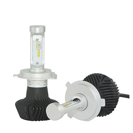 Bombilla LED ajustable de longitud focal kit de conversión 25W 6000LM H4 H7 H11 a otros
