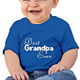 Best Baby Tee Time Baby Evers - Best Grandpa Ever 6-24 Months Baby Boys Girls Review