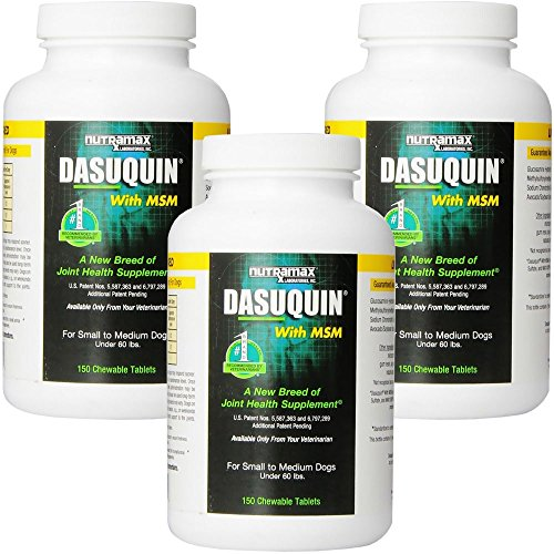 3PACK Dasuquin for Small/Medium Dogs under 60 lbs. with MSM (450 Chewable Tabs) by Dasuquin