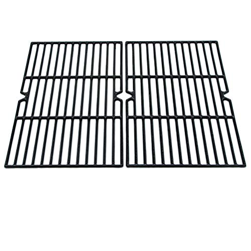 (Direct Store Parts DC107 Polished Porcelain Coated Cast Iron Cooking Grid Replacement Charmglow,Jenn-Air,Weber,BBQ Grillware,Costco Kirkland,Aussie,Grill Zone,Kenmore,Nexgrill.Gas Grill)