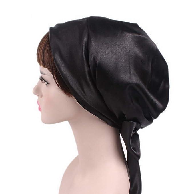 La Vogue Women Soft Beanie Sleep Turban Headwear Flower Printed Night Sleep Hat at Amazon Womens Clothing store: