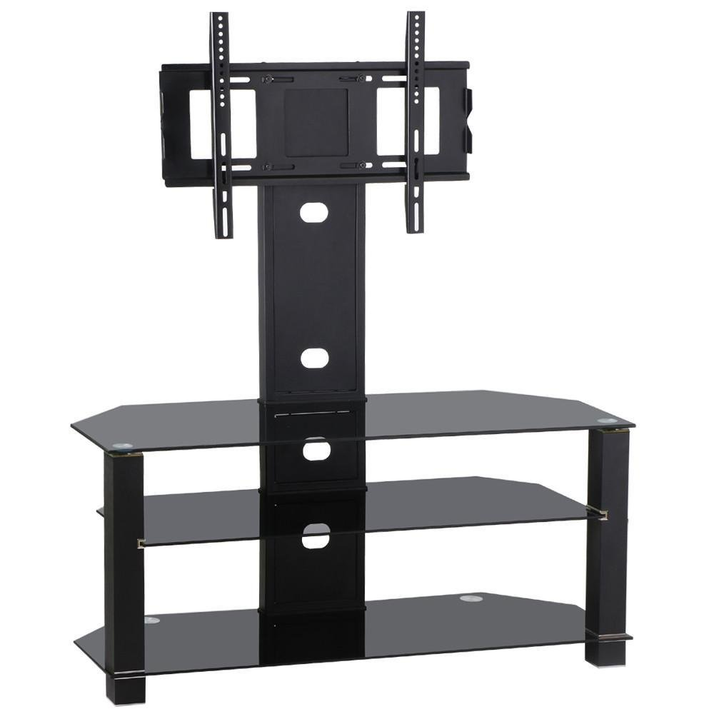 Amazon.com: Topeakmart TV Stand with Bracket Mount and 3-Tier Glass ...