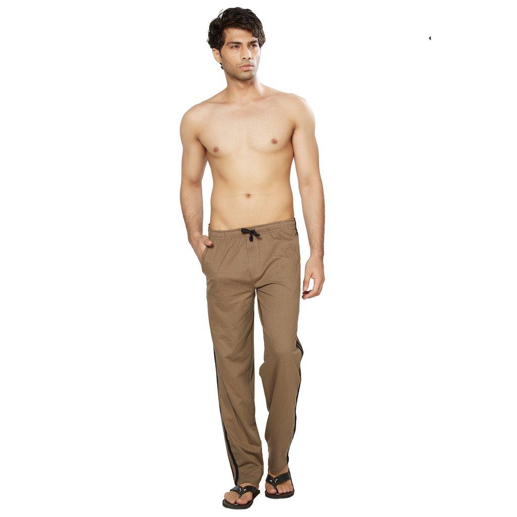 Clifton Men's Fine Jersey Cotton Coloured Track Pant - Walnut - Medium