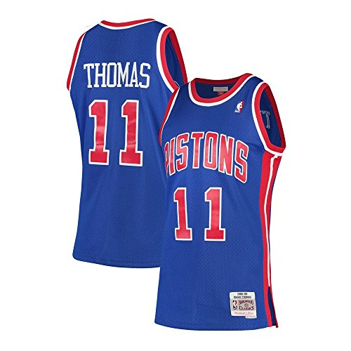 Isiah Thomas Detroit Pistons Mitchell & Ness 1988-89 Hardwood Classics Swingman Jersey (Medium)