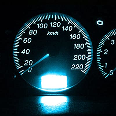 YITAMOTOR 20x T5 3-SMD Instrument Panel Cluster Dash Ice Blue LED Bulb Light Lamp 74 70 37 17: Automotive