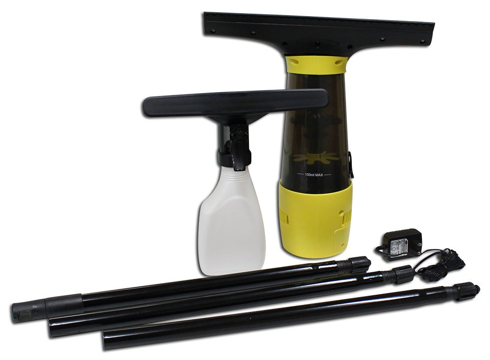 Rechargable Window Vacuum With Attachments