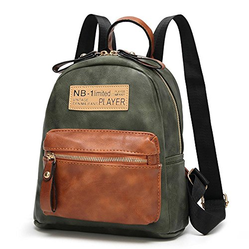 Leather Green School Travel Black Shoulder Bag Women's Wwave Bag Pu Vintage dvnaFq