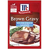 McCormick 30% Less Sodium Brown Gravy Mix (.87 oz) 12 Pack