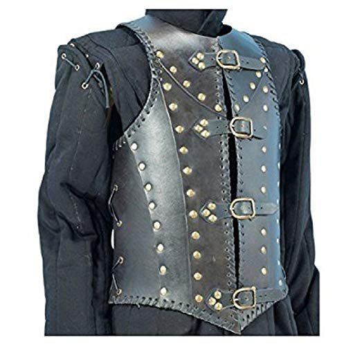 - nasir ali moonflag Armor Soldiers Leather Body Armour Black One Size