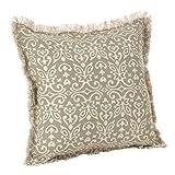 SARO LIFESTYLE Naxos Collection Geometric Design Down Filled Cotton Throw Pillow, 20'', Natural